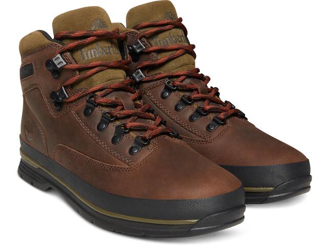 a249dd5a815 Timberland Euro Hiker SF Leather Shoes Men dark brown full-grain